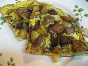 Cut omlet