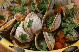 STeamed Clams & Tomatoes